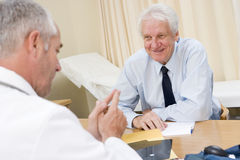 Man in doctor's office Stock Photos