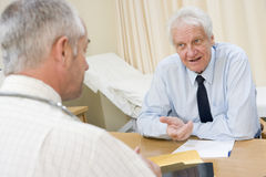 Man in doctor's office Royalty Free Stock Image