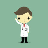 Man doctor. Man in doctor suit on blue background Royalty Free Stock Photos