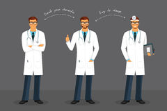 Man doctor in various poses Stock Image