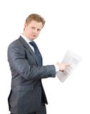Man with documents Royalty Free Stock Image