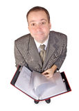 Man with documents Royalty Free Stock Photos