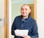 Man with documents Royalty Free Stock Images