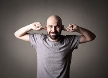 Man doesn't want to hear Royalty Free Stock Images