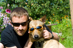 Man and dog Royalty Free Stock Image