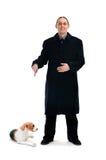 Man and dog Stock Photos