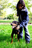 Man with dog royalty free stock images