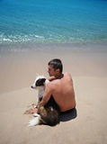 Man and dog Royalty Free Stock Photography