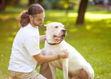 Man and Dog Stock Photo