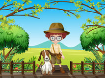 A man and a dog Royalty Free Stock Photography