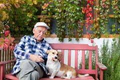 Man with dog Stock Photos