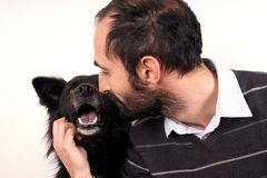 Man and dog Royalty Free Stock Photos