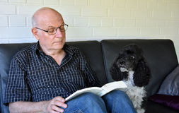 Man and dog Royalty Free Stock Image
