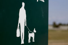 Man and dog silhouette. A man and a dog silhouette Stock Photography