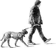 Man with dog Stock Photo