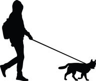 Man and dog Stock Image