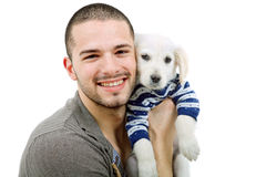 Man with a dog Royalty Free Stock Photo