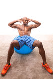 Man Doing Ab Crunches Royalty Free Stock Images