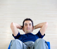 Man doing abs Stock Photography