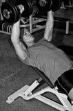 Man doing athlete exercise Stock Image