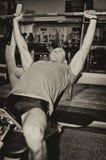 Man doing athlete exercise Royalty Free Stock Photos