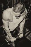 Man doing athlete exercise Stock Photo