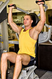 Man doing athlete exercise Stock Images