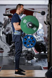 Man doing biceps curl with barbell Royalty Free Stock Image