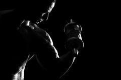 Man doing biceps Royalty Free Stock Image