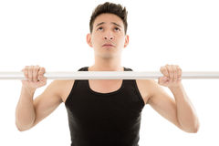 Man doing chin-ups Royalty Free Stock Photos