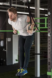 Man doing crossfit exercises Stock Image