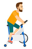 Man doing cycling exercise Royalty Free Stock Images