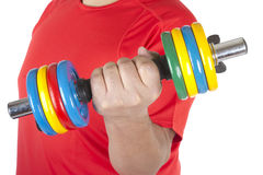 Man doing dumbbells Stock Photography