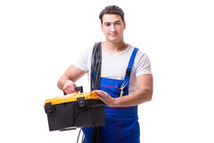 The man doing electrical repairs Royalty Free Stock Images