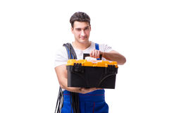 The man doing electrical repairs Royalty Free Stock Photos