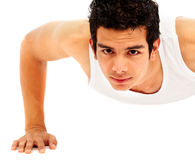 Man doing exercise Stock Image