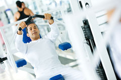 Man doing exercise Stock Photos