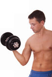 Man doing exercise for biceps Royalty Free Stock Photography