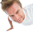 Man doing exercise push ups Stock Photography