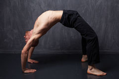 Man doing exercise Stock Images