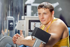 Man doing exercises Royalty Free Stock Images