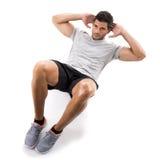 Man doing exercises Stock Image