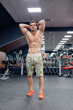 Man doing exercises in gym Royalty Free Stock Photo