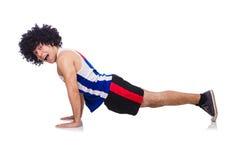 Man doing exercises isolated Stock Image