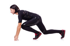 Man doing exercises isolated Stock Photo