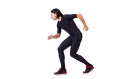 Man doing exercises isolated Royalty Free Stock Photography