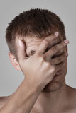 Man doing facepalm Royalty Free Stock Photos