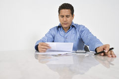 Man Doing Finances Royalty Free Stock Image
