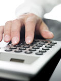 Man doing financial calculations Royalty Free Stock Photography