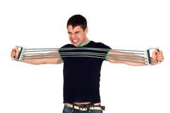 Man doing fitness Royalty Free Stock Photos